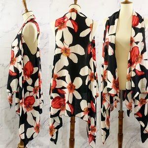 Floral Kimono Duster One Size (0-14)